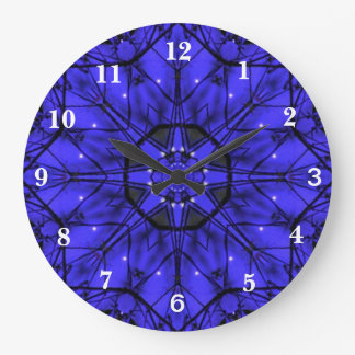 Blue Starlight Large Clock