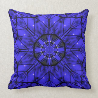 Blue Starlight Throw Pillow