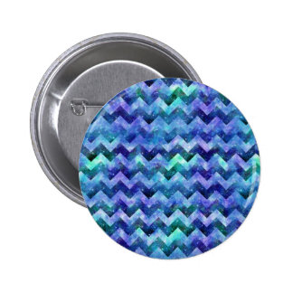 Blue Starry Galaxy Watercolor Chevron Pin