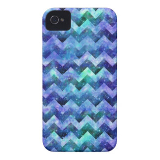 Blue Starry Galaxy Watercolor Chevron iPhone 4 Cover