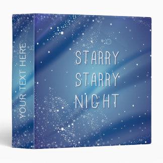 Blue Starry Night Dream Quote Binder