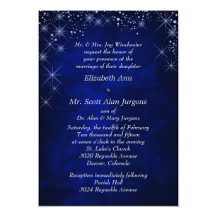 Formal wedding invitations announcements zazzle blue starry night formal wedding invitation stopboris Image collections