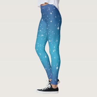 Blue Starry Night Leggings