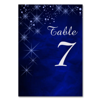 Blue Starry Night Table Number
