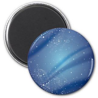 Blue Starry Night Template Fridge Magnet