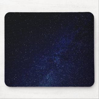 Blue starry sky mouse pad