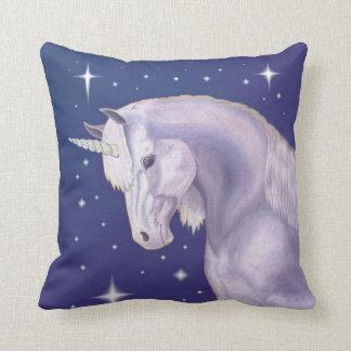 Blue Starry Unicorn pillow