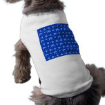 blue stars and moon patterns pet clothes