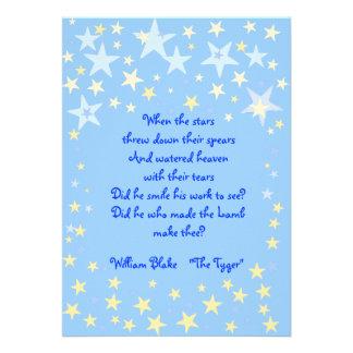 Blue Stars Baby Shower Invitation