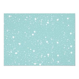 "Blue Stars baby shower 5.5"" X 7.5"" Invitation Card"