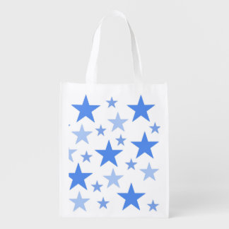 Blue Stars bag Market Tote