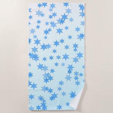 Beach Themed Blue  Stars Beach Towel