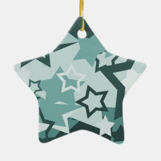Blue Stars Ceramic Ornament