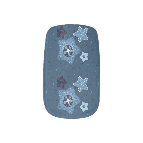Blue Stars Christmas Nail Art Minx® Nail Wraps