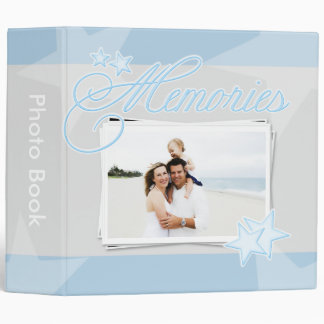 Blue Stars Custom Photo Binder