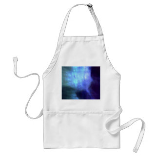 Blue stars in space adult apron