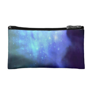 Blue stars in space makeup bags