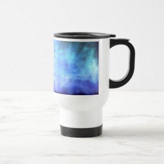 Blue stars in space coffee mug