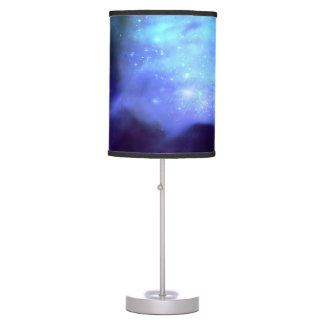 Blue stars in space table lamp