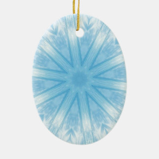 Blue stars in the frost christmas ornaments