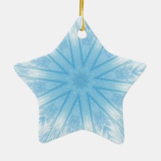 Blue stars in the frost christmas tree ornament