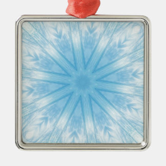 Blue stars in the frost christmas tree ornaments