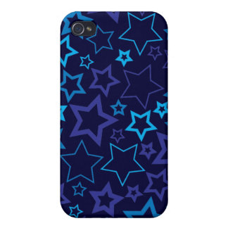 Blue Stars iPhone 4 Case