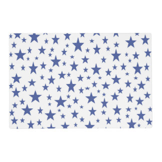 Blue Stars Laminated Placemat