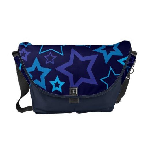 Blue Stars Messenger Bag