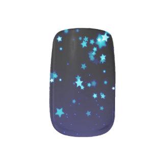 Blue Stars - Minx Nail Art, Single Design per Hand Minx Nail Wraps