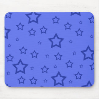 Blue Stars Mouse Pad