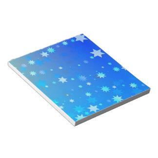 Blue Stars Notepad