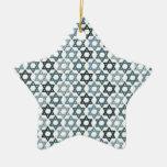 Blue Stars of David Ornament