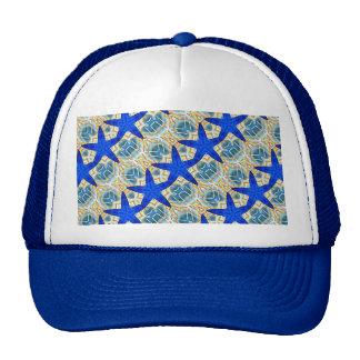 blue stars on blue hat