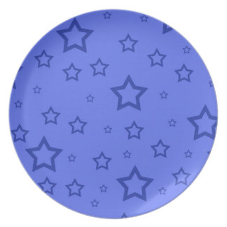 Blue Stars Party Plate