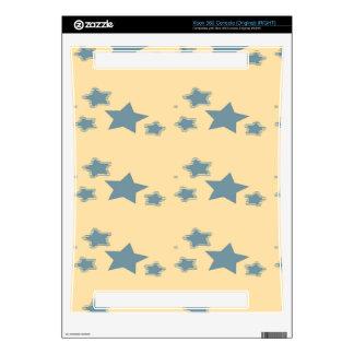 Blue stars pattern xbox 360 skins