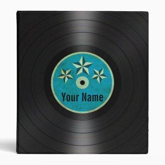 Blue Stars Personalized Vinyl Record Album Binder
