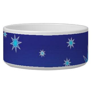 Blue Stars Pet Bowl