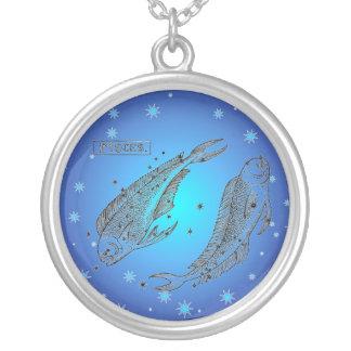 Blue Stars Pisces Necklace