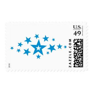 Blue stars postage