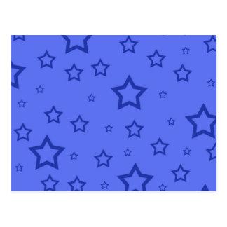 Blue Stars Postcard
