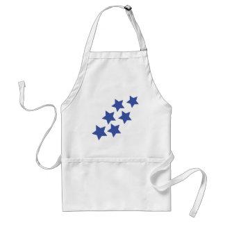 blue stars rain adult apron