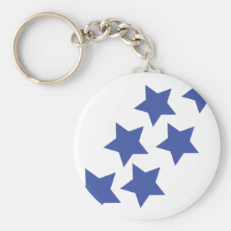 blue stars rain keychain
