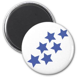 blue stars rain magnet