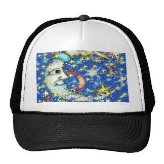 Blue Stars Sun and Moon Design Trucker Hat