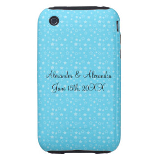 Blue stars wedding favors iPhone 3 tough case