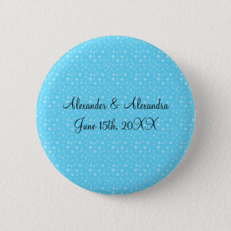 Blue stars wedding favors pinback button
