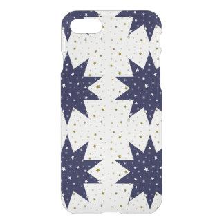 Blue stars & white stars & sparkly gold stars iPhone 8/7 case