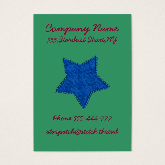 Blue Starshaped Patch Business Card Template