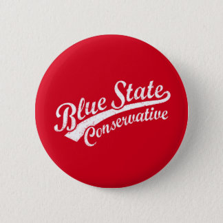 Blue State Conservative Button